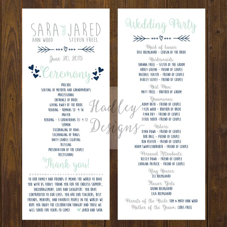 Best 25 Wedding Program Examples Ideas On Pinterest For Example