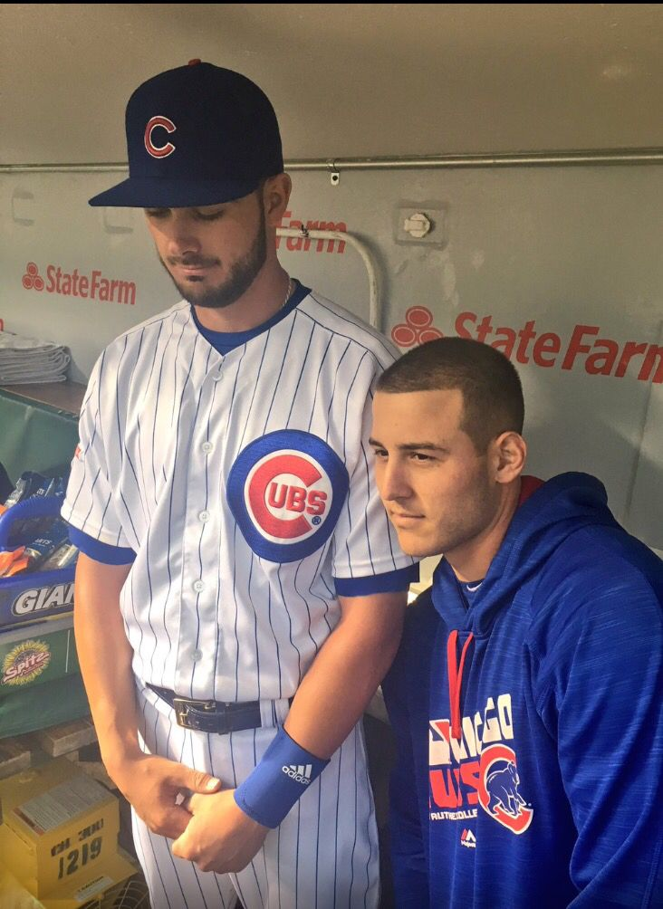 Kris Bryant and Anthony Rizzo sad on a cancelled game May 9 2016