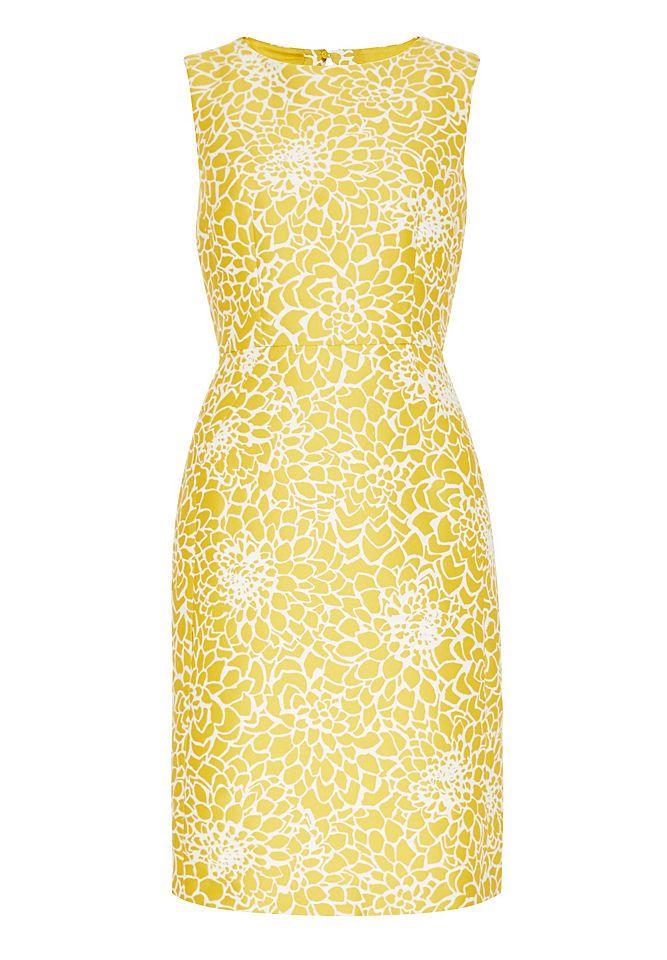 Hallhuber cocktailkleid gelb