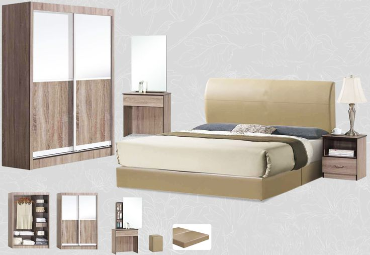The Humphrey Bedroom Set Description: Specially designed, sleek and classy, the Humphrey bedroom set was design to its finest lines. Keeping it simple and neat with clean lines, it consists of a 2 sliding door wardrobe.