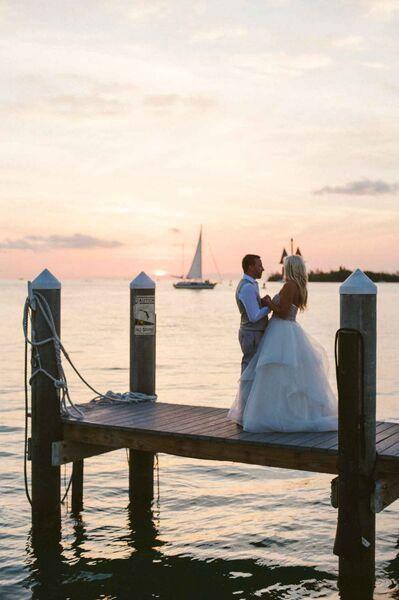 Sunset beach wedding in Key West http://dailycatch.coastalliving.com/2015/08/20/a-key-west-wedding-by-the-water/