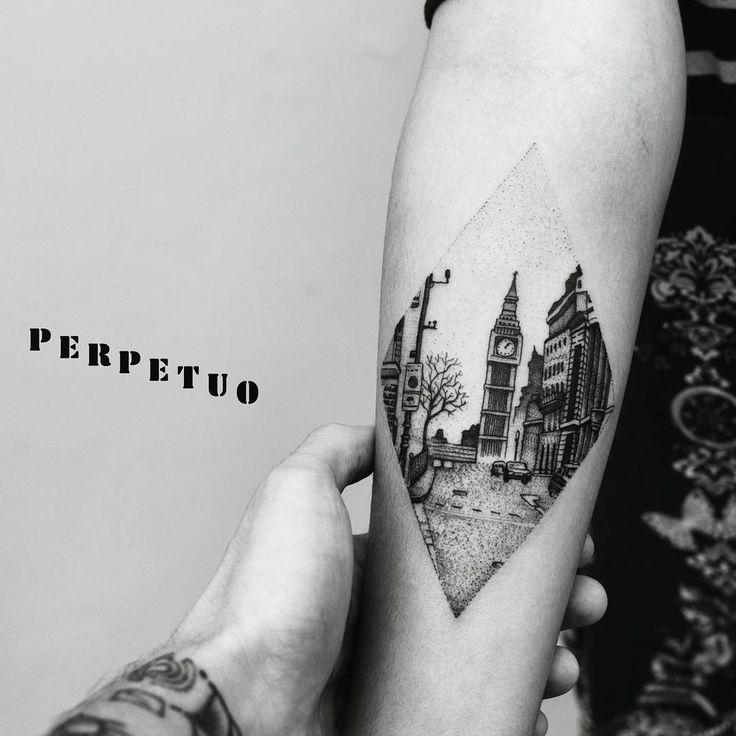 incredible big ben / london dotwork tattoo <3  insta: @perpetuotattoo