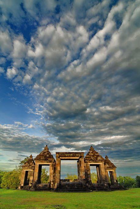Dramatic Sky at Candi Ratu Boko - Yogyakarta  Indonesia  by Dieter Behrens