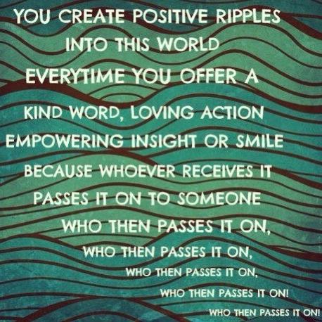 Pssst - pass it on #happiness #positivity #love #randomactsofkindnesd