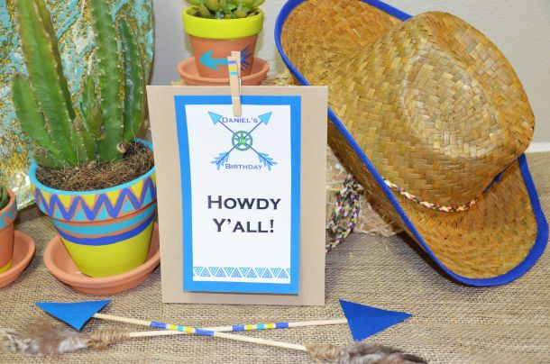 Such a cute party theme... Cowboys and Indians! I love how creative this blogger is. @KiKiMac