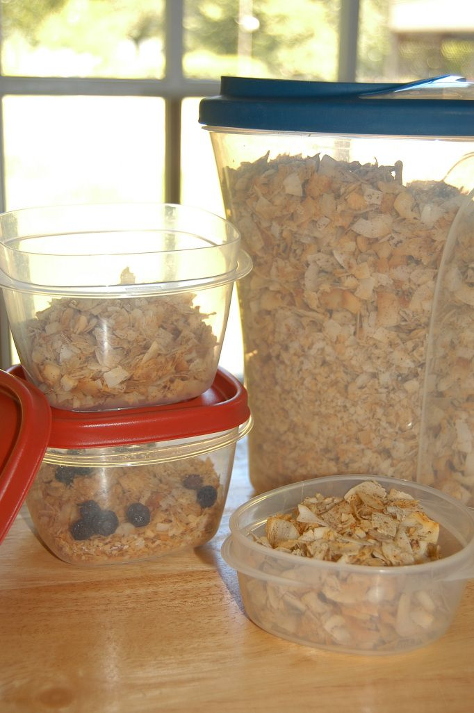Melissa's ingenius grain-free, sugar-free breakfast creation: frosted flakes!