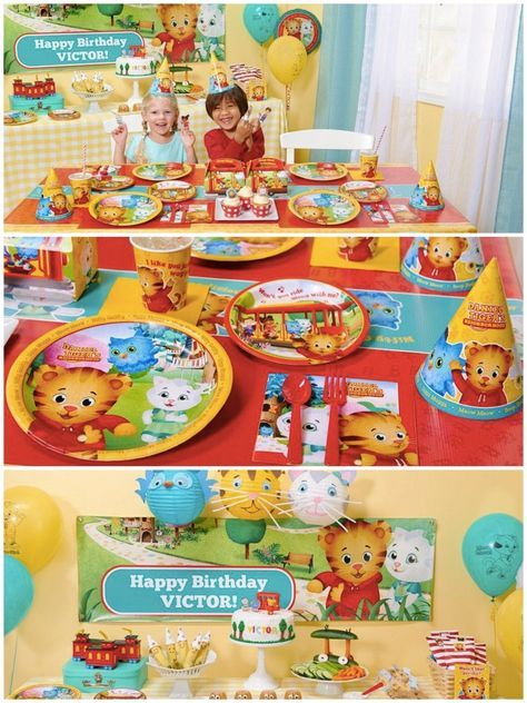 Daniel Tiger Birthday Party Planning, Ideas & Supplies | Kids Party Themes | PartyIdeaPros.com