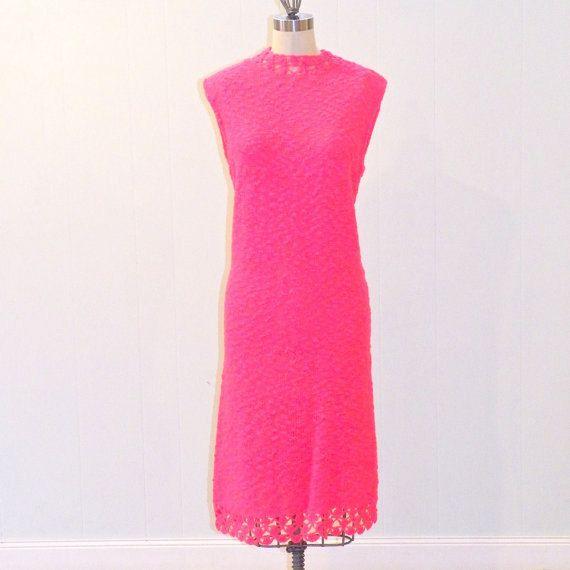 St. John Knits 1960s Dress 60s Hot Pink by DaisysVtgClothesLine, $78.00