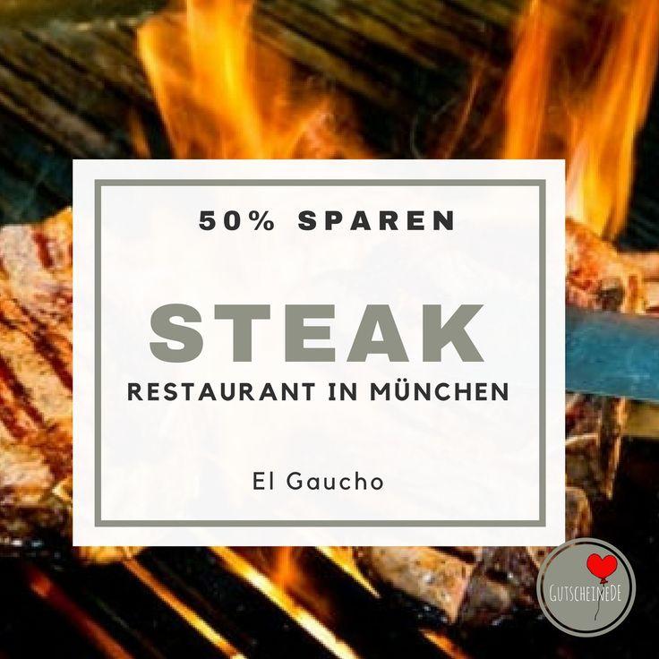 Eins der besten Steak Restaurants in München -  Daily Deal für drei Gänge Menü zum halben Preis. #dailydeals #steakessen #steakmuenchen #restaurantmuenchen #restaurantrabatt #gutscheindeDE