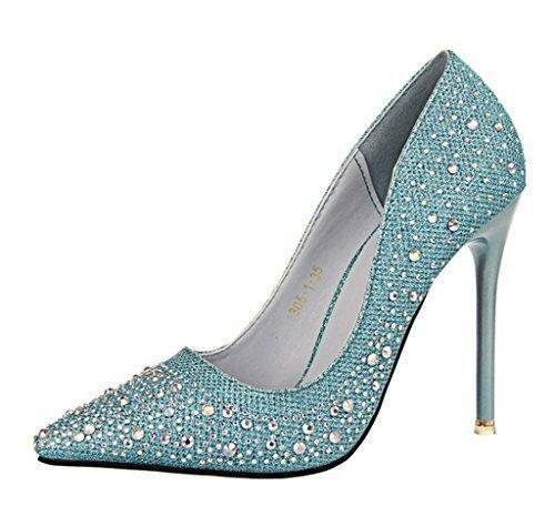 Oferta: 19.93€. Comprar Ofertas de Minetom Mujer Primavera Dulce Boda Zapatos de Tacón Elegante Brillante Rhinestone Zapatos Tacón Alto Zapatos Pumps Stiletto A barato. ¡Mira las ofertas!