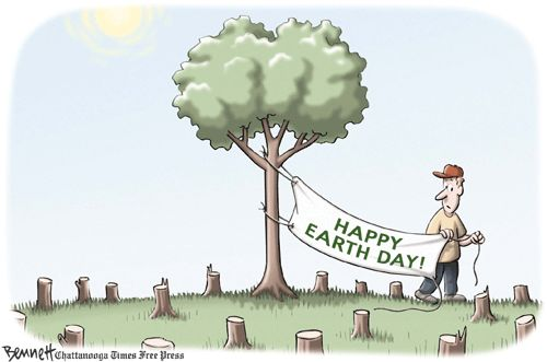 Environment Cartoons: Happy Earth Day