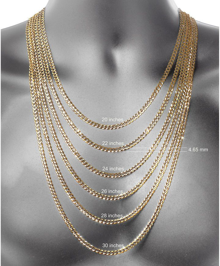 a8af16d9e23b9 FINE JEWELRY 10K Gold 24 Inch Chain Necklace | love it. | Gold rope ...