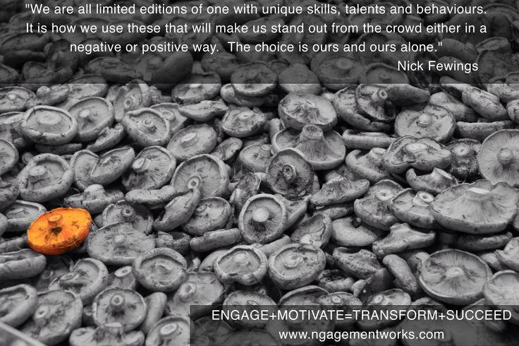 Unique  #learning #development #inspiration #motivation #personaldevelopment #people #business #insights #engagement #transform #success #quotes #quote #trainingcourse #workshop #team #leadership #management #empowerment #teamwork #ngagementworks