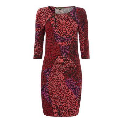 Biba Panther Leopard Zip Detail Dress