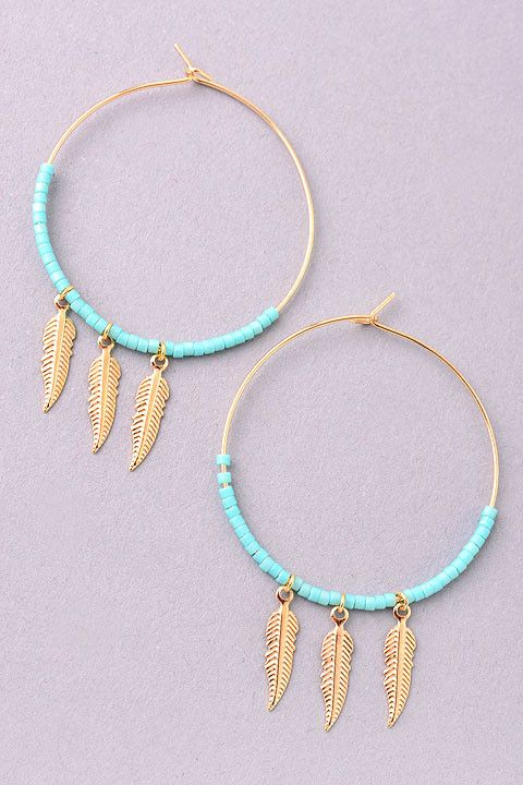 Dreamcatcher Earrings in Turquoise and Rainbow