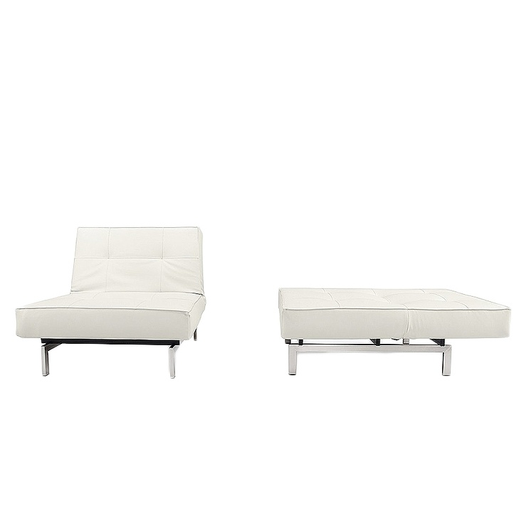 Innovation Living // Splitback Deluxe White Leather Chair