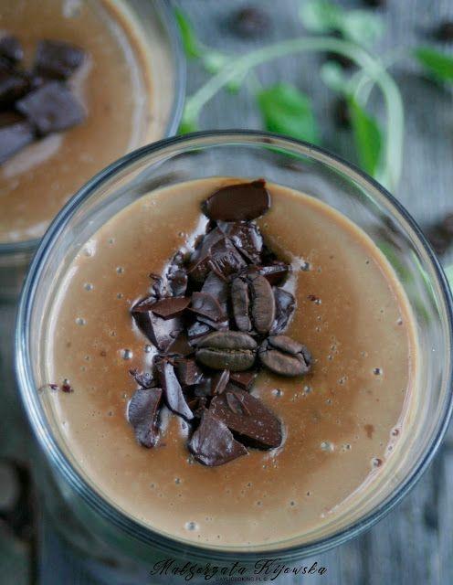 Mleczny kisiel kawowy z czekoladą