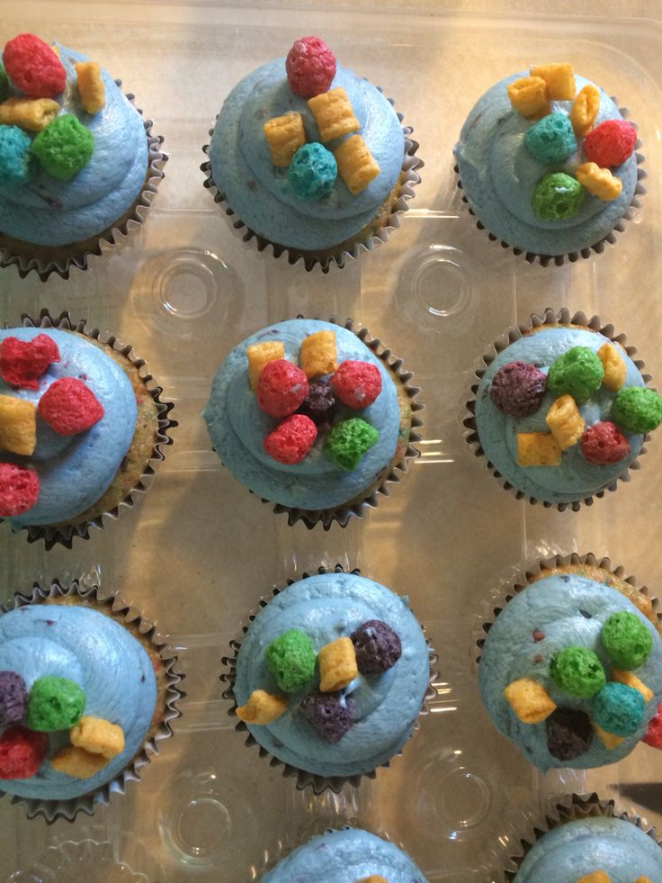 Captain Crunch Cupcakes with Wild Berry Buttercream!! - Bebe Liz Desserts