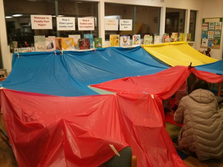 Family Fort Night at the library - great family, after hours program