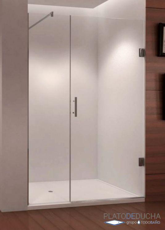 Mampara de ducha kairos con una hoja fija y una puerta - Puerta cristal abatible ...