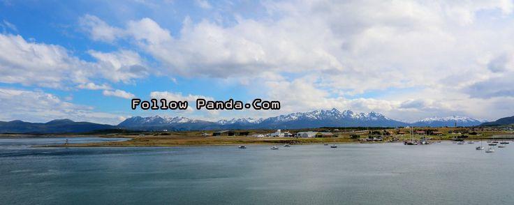 View of Ushuaia Aeroclub from Le Boreal Antarctic Cruise - Ushuaia, Tierra del Fuego, Patagonia, Argentina | FollowPanda.COM