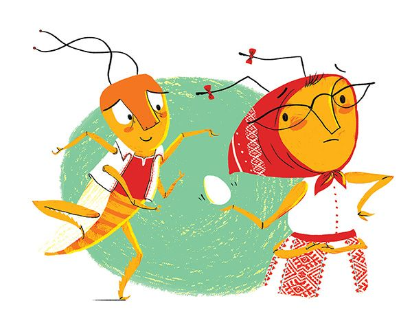 "Shahar Kober illustration for ""Can I Have a Grain of Sugar?"", by Naomi Ben-Gur."