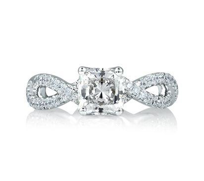 Infinite Criss-Cross Cushion Cut Engagement Ring | A. Jaffe