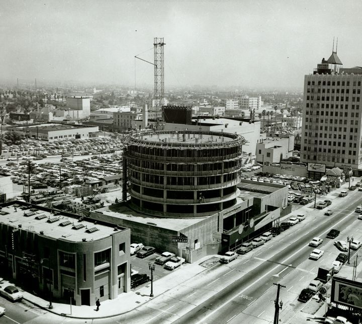 Capitol Records Tower Under Construction