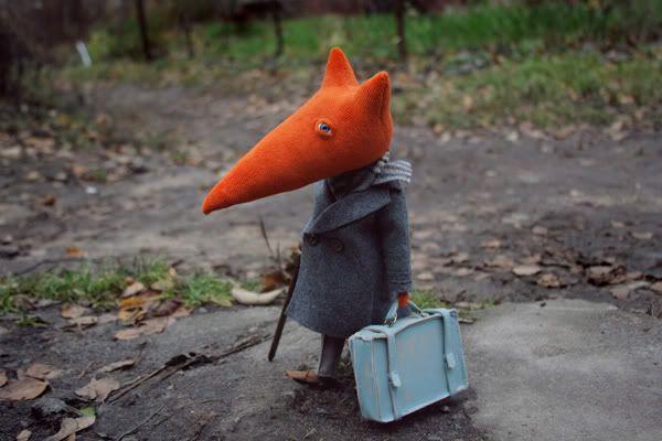 Takyaje fox dolls by Russian designer Nalogina Lubov