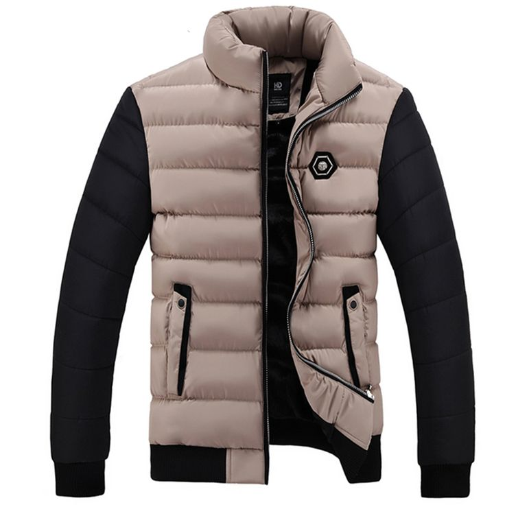 New 2016 Brand Winter Jacket Men Thick Warm Down Jacket Mens Winter Outerwear Zippers Down Parka Mens Solid Puffer Coat 8809