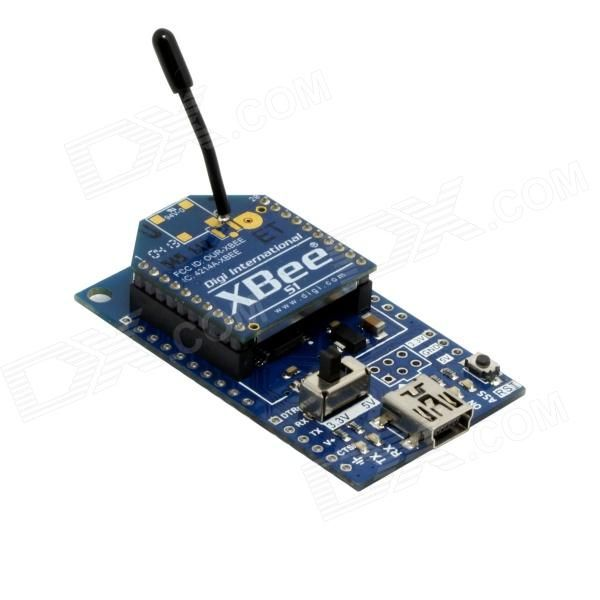 Bee USB to Serial Adapter V2.0 Board + XBee S1 120M Wireless Data Transmission Module for Arduino. Xbee module is a ZigBee wireless module technology, communicate with the microcontroller through inter-serial; Can very quickly connect device to a ZigBee network; Adopts 802.15.4 protocol stack; Supports point-to-point and point-to-multipoint communications and networking; Antenna is wire antenna, simple and convenient. The adapter also could support XBee interface.. Tags: #Electrical #Tools…