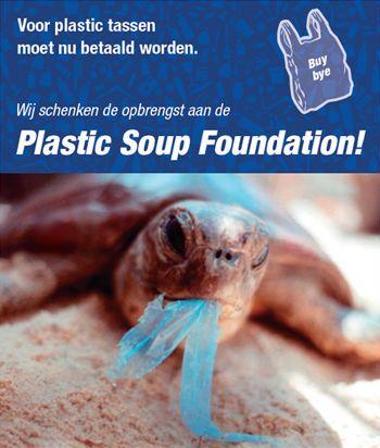 Topshelf draagt graag bij aan een beter milieu. Daarom gaat de opbrengst van plastic tasjes volledig naar Plastic Soup Foundation.