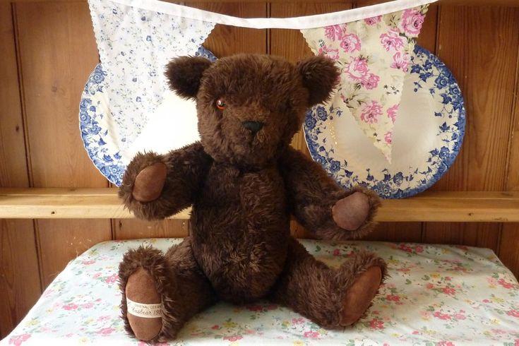 Vintage Casbear Soft Plush Teddy Bear