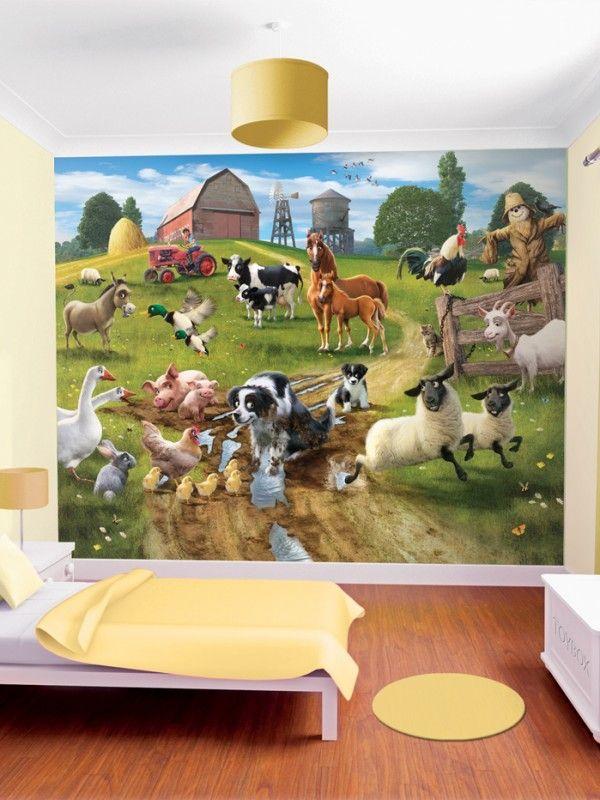 Farmyard Boys Wallpaper Murals For Kids Bedroom
