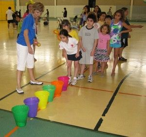 10 Best VBS Games For Kids - Faith and Entertainment - buckers further apart the older the group - prize is candy