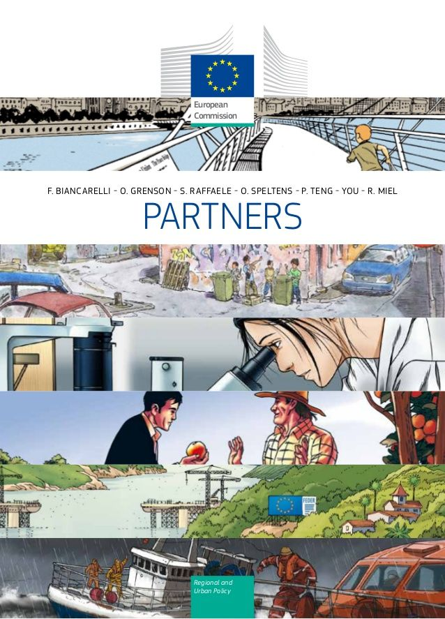 Partners: a comic book published by European Commission - Regional Policy by Alberto Cardino - AGEVOFACILE via slideshare