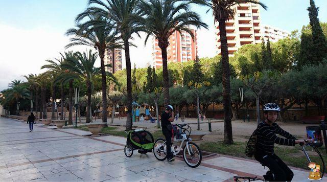 Ciclorutas por Benidorm: 4 zonas para disfrutar en bici con los niños www.conlosninosenlamochila.com Alicante, Tao, Sidewalk, Community, Deporte, Backpack, Beach, Side Walkway, Walkway