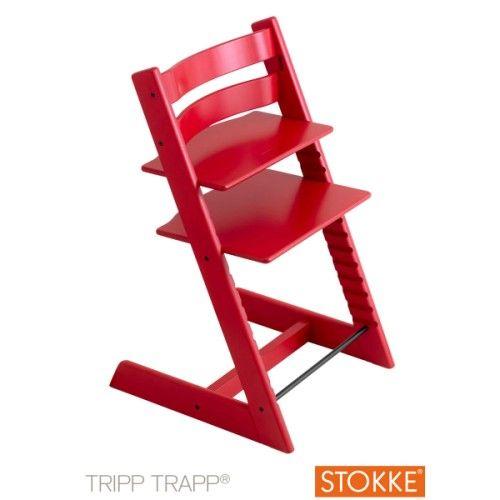 Chaise haute Tripp Trapp rouge Stokke pour enfant dès 3 ans - Oxybul éveil et jeux