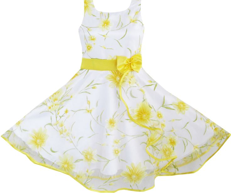 Yellow girls easter dress