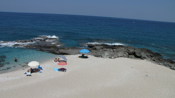 Plaka beach in Pelion