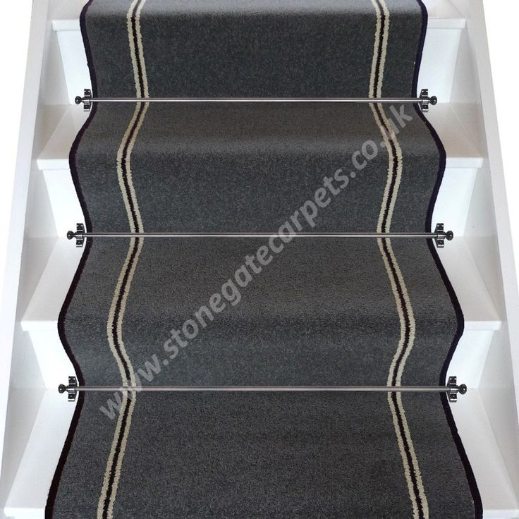 Best Brintons Carpets Bell Twist Smoke Humbug Smoke Stair 400 x 300