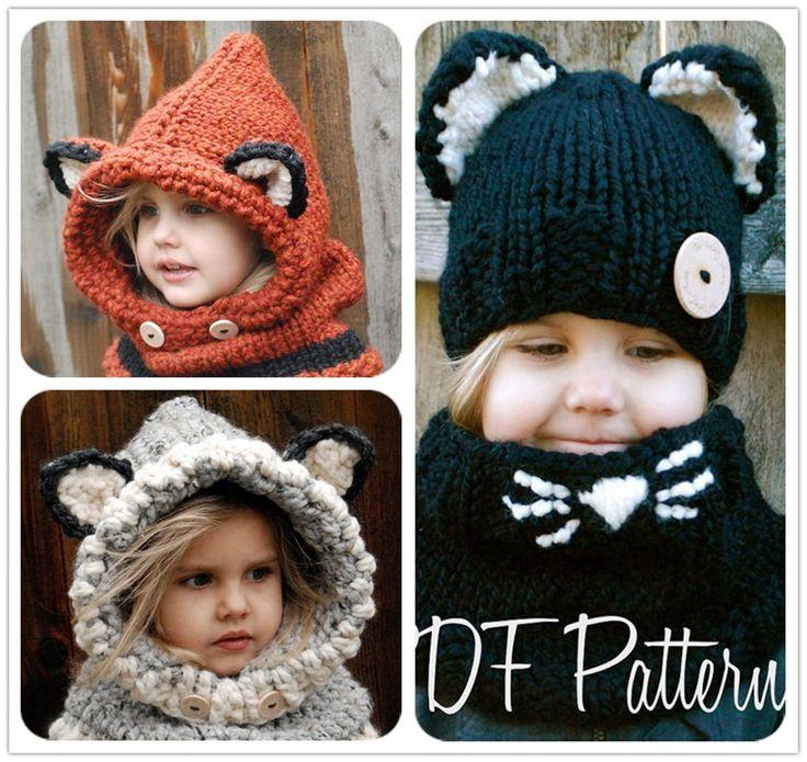 Корейская версия прекрасных ушей из лисицы шерстяной шерсти шляпы осенью и зимой утолщение теплого уха защиты вязать воротник детей и детей - Taobao