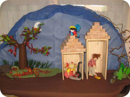 Kinderen zelf huizen met daken laten maken voor thematafeliu...  Pinned from PinTo for iPad 