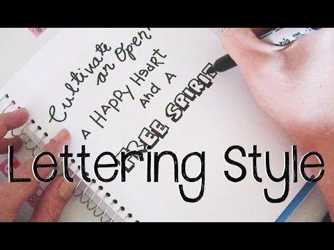 Doodle with Me : Simple Lettering Techniques + Announcement!! - YouTube