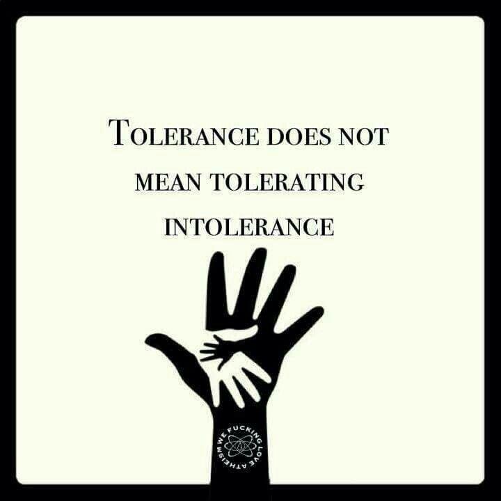 Tolerancia no significa tolerar la intolerancia - Párese contra Trump y su fascismo racista / Stand AGAINST Trump & his hateful Fascism ! - Asilocreo-