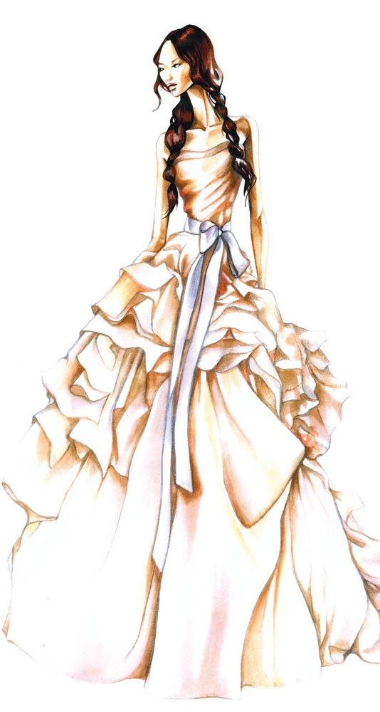 What a beautiful wedding gown this would be, or maybe it's for the Belle of the Ball.