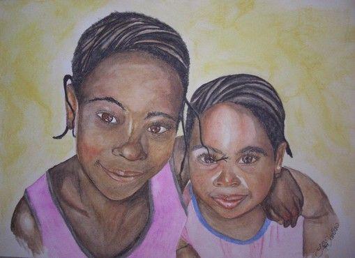 Fedora & Ellice. Watercolor pencil tuturial.  Step by step on www.artbylaila.jimdo.com