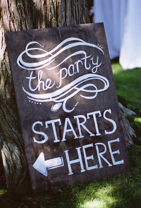 Vintage Garden Party chalkboard sign