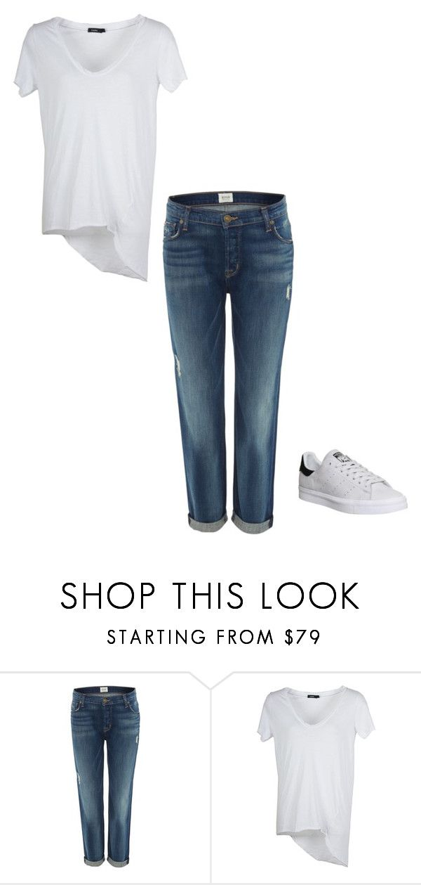 """""""Styling Mrs Oliver Weekend"""" by stylingmrsoliver on Polyvore featuring Hudson Jeans, Bassike and adidas"""