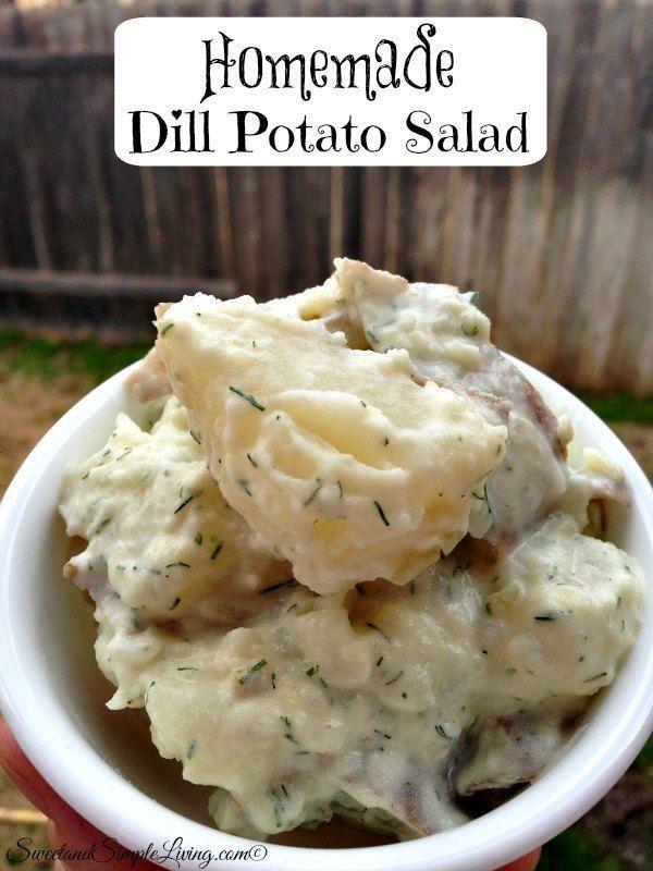 Homemade Dill Potato Salad Recipe! Quick and Easy!